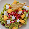 Guacamole with Pomegranate, Jicama and Mango