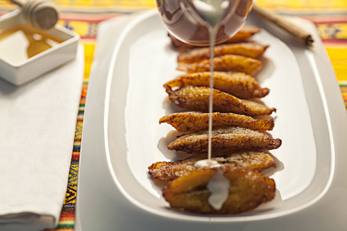 Cream and Honey Fried Plantains